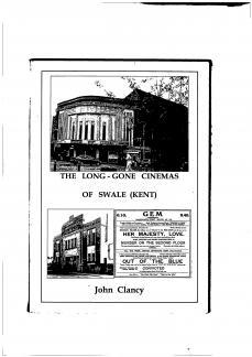 The Long-Gone Cinemas of Swale (Kent)
